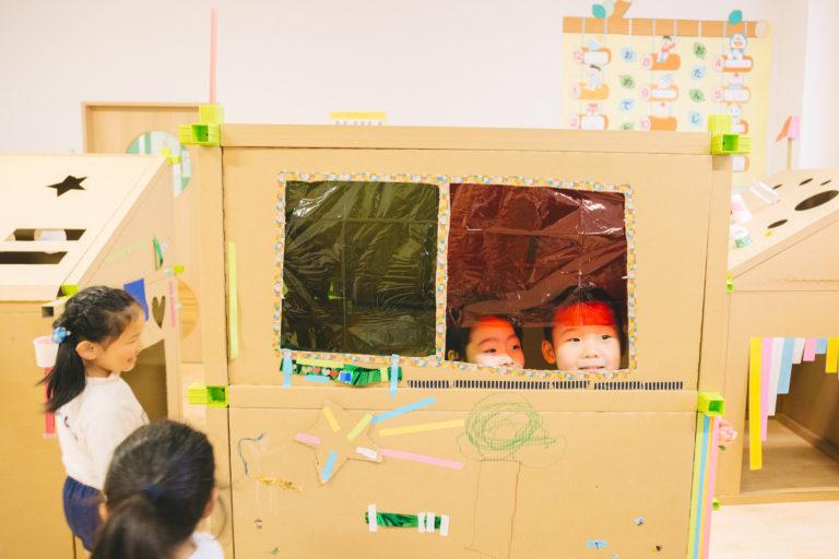 幼稚園でワークショップ!